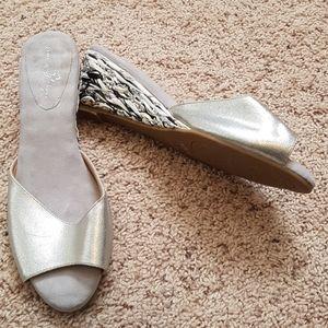 Joan Boyce Peep Toe Slide 10 W.